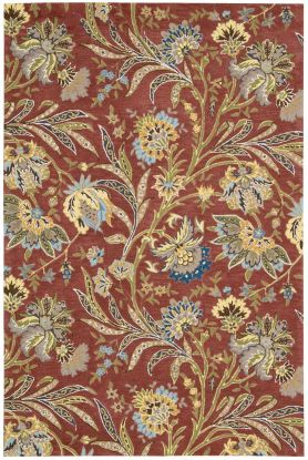 "Nourison Gatsby Floral/Botanical, Traditional, Multicolor 5'0"" x 7'6"""