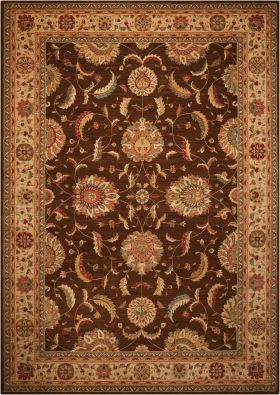 "Nourison Living Treasures Brown 2'6"" x 12'0"" Runner"
