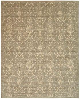Nourison Silk Elements Traditional, Rustic/Vintage, Moss