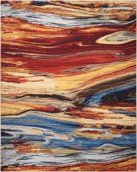 Nourison Chroma Lava Flow
