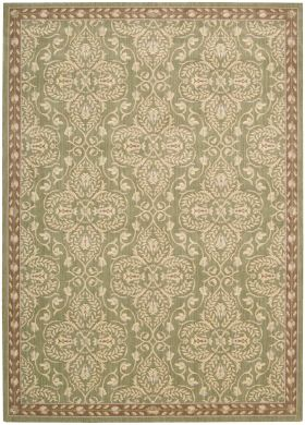 """Nourison Riviera Traditional, Transitional, Green 2'0"""" x 2'9"""""""