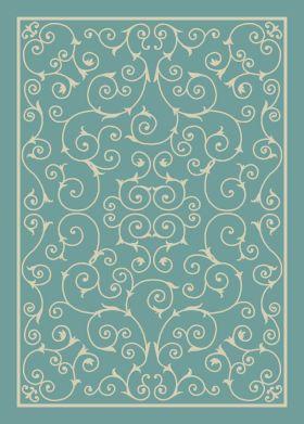 """Nourison Home & Garden Light Blue 2'3"""" x 8'0"""" Runner"""