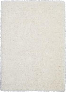 Nourison Luxe Shag White