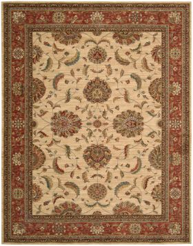 Nourison Living Treasures Ivory/Red