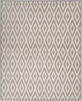 Nourison Grafix White/Grey