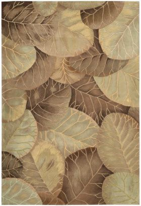 Nourison Tropics Brown/Green