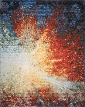 Nourison Chroma Red Flare
