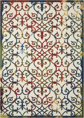 "Nourison Home & Garden Multicolor 5'3"" x 7'5"""