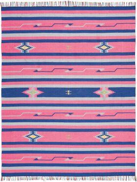 """Nourison Baja Pink/Blue 6'6"""" x 9'6"""""""