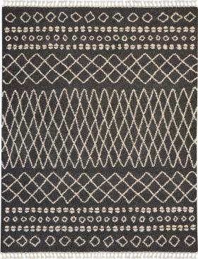 Nourison Moroccan Shag Charcoal