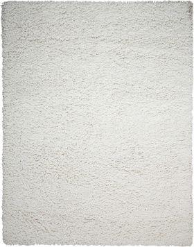 """Nourison Zen Shag, White 7'6"""" x 9'6"""""""