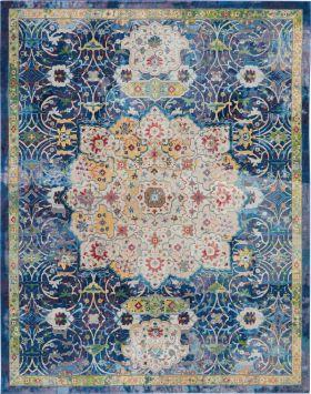 Nourison Ankara Global Blue