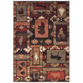 Oriental Weavers Woodlands 9601d Brown
