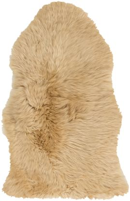 "Surya Sheepskin Shs-9601 Wheat 6'0"" x 6'0"" Square"