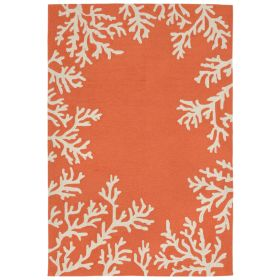 Liora Manne Capri Coral Border Orange
