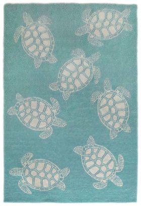 Liora Manne Capri Turtle Aqua