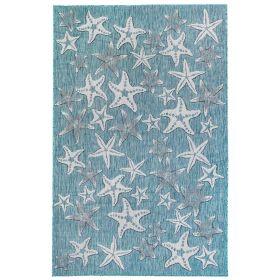 Liora Manne Carmel Starfish Blue
