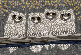 Liora Manne Frontporch Owls Night