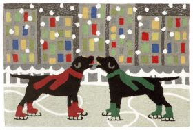 Liora Manne Frontporch Holiday Ice Dogs Multi