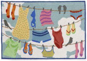 Liora Manne Frontporch Clothes Line Multi