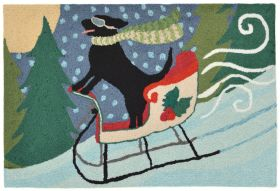 Liora Manne Frontporch Sledding Dog Multi