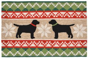 Liora Manne Frontporch Nordic Dogs Natural