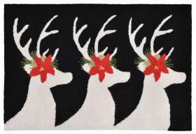 Liora Manne Frontporch Reindeer Black/Grey