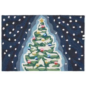 Liora Manne Frontporch Xmas Tree Midnight