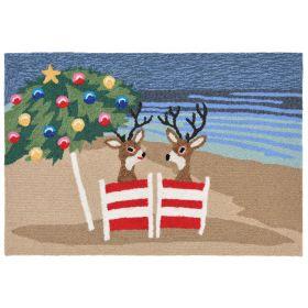 Liora Manne Frontporch Coastal Christmas Multi