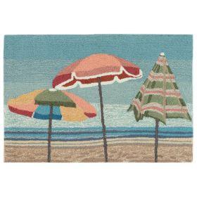 Liora Manne Frontporch Beach Umbrellas Blue