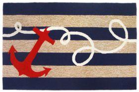 Liora Manne Frontporch Anchor Navy