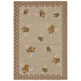 Liora Manne Frontporch Honeycomb Bee Natural