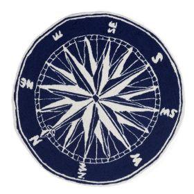 Liora Manne Frontporch Compass Navy