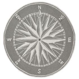 Liora Manne Frontporch Compass Grey