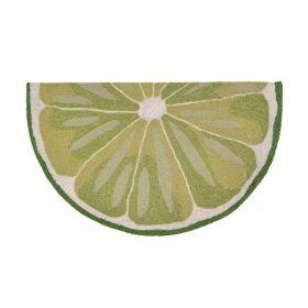 Liora Manne Frontporch Lime Slice Green