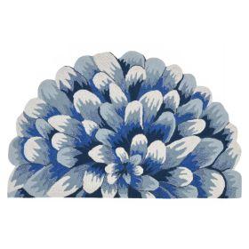 Liora Manne Frontporch Mum Blue
