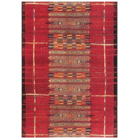 Liora Manne Marina Tribal Stripe Red