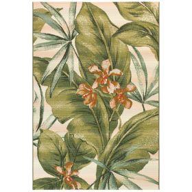 Liora Manne Marina Tropical Leaf Cream