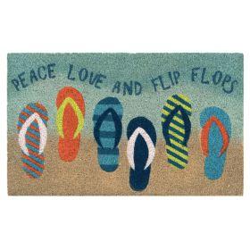 "Liora Manne Natura Flip Flops Blue 1'6"" x 2'6"""