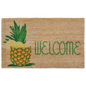 "Liora Manne Natura Welcome Pineapple Natural 1'6"" x 2'6"""