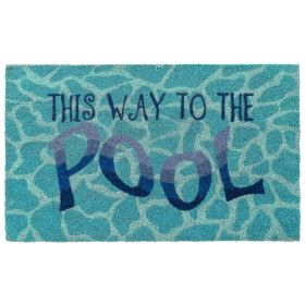 "Liora Manne Natura This Way To The Pool Blue 1'6"" x 2'6"""