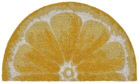 "Liora Manne Natura Lemon Yellow 1'6"" x 2'6"" Half Circle"