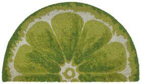 "Liora Manne Natura Lime Green 1'6"" x 2'6"" Half Circle"