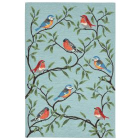 Liora Manne Ravella Birds On Branches Blue