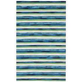 """Liora Manne Visions II Painted Stripes Cool 5'0"""" x 8'0"""""""