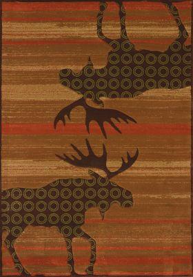 United Weavers Designer Contours Cem Urban Lodge Terracotta