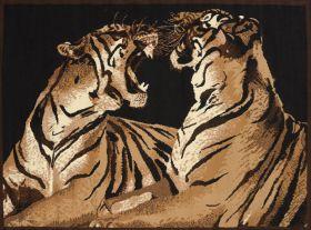 "United Weavers Legends Double Tigers Multi 5'3"" x 7'2"""