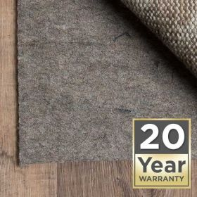 20 Year Warranty Area Rug Pad Pre-packaged