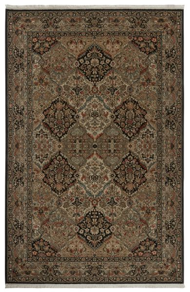 "Karastan Rugs Original Karastan Empress Kirman Black 5'9"" x 9'0"" Collection"