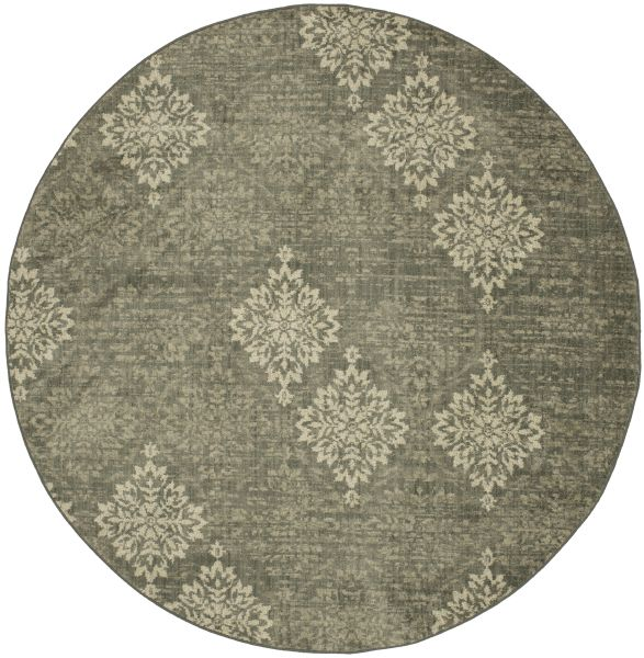"Karastan Rugs Euphoria Wexford Ash Grey Castor Grey 8'0"" x 8'0"" Round Collection"